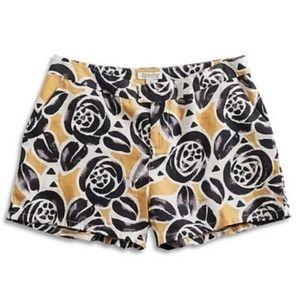 LUCKY BRAND Retro Floral Printed Linen Short sz 8
